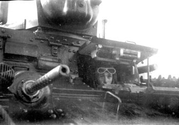 Gaston Eve driving Stuart light tank M3A1 Picardie