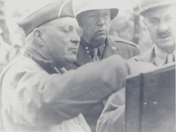 L-R Generals Haislip, Patton and Leclerc