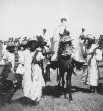 The Emir of Kano attending celebrations at the end of Ramadan 1941